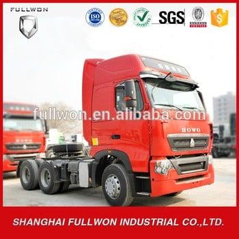 中国重汽豪沃6x4 t7h欧3柴油拖拉机头430hp RHD一卡车