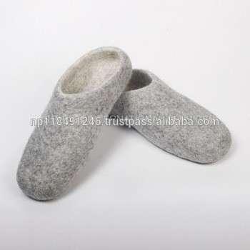 天然羊毛毡handmade星号的鞋