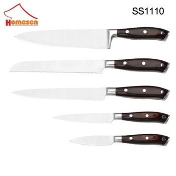 homesen优质耐用锋利的刀片不锈钢刀木柄刀,免费样品
