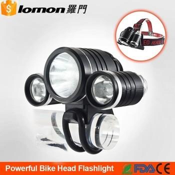 8800mah防水XML T6自行车前灯充电LED车头灯