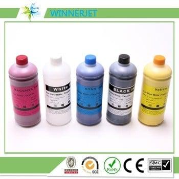 纺织墨水,K C M Y WH WH廷塔DTG油墨1000ml * 6爱普生F2000的颜色