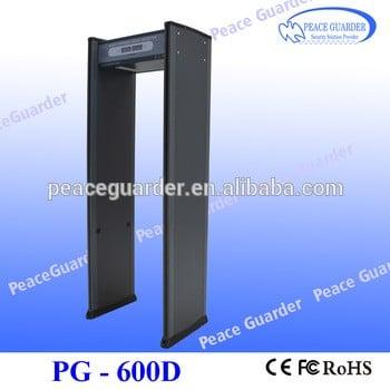 通过高灵敏度金属探测门金属探测器的安全检查pg-600d