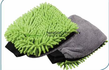 超细纤维洗车手套双面,高质量厚,吸水性