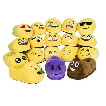 Cheap Wholesale Custom Plush Funny Poop Emoji Slippers