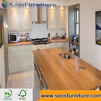 餐厅厨房台面台式切割尺寸虚荣台面天然木材台面厨房台面的木桌子
