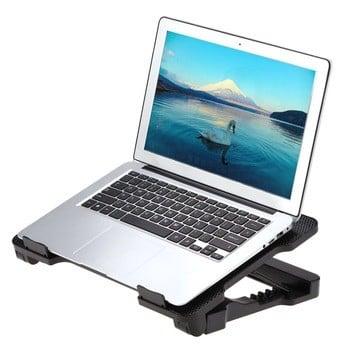 "idock笔记本USB散热垫散热底座散热器冷却垫两140mm LED风扇5角12 ""15.6 ""笔记本"