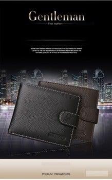 2016款最畅销的短皮男士钱包,真皮钱包