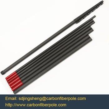 带夹具的伸缩式碳纤维杆