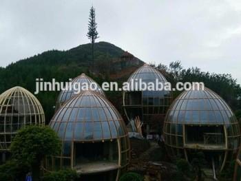 室外防水玻璃穹顶蛋形玻璃房