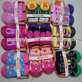 批发婴儿鞋橡胶防滑婴儿袜子鞋m6060301滑稽mepiq