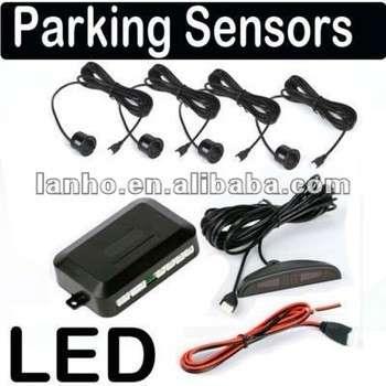 汽车数字LED显示屏倒车倒车系统雷达4传感器/头套件