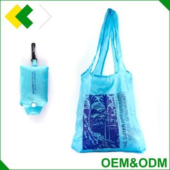 OEMODM出厂价布手拉尼龙聚酯涤纶防水袋折叠购物袋