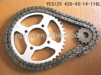 Motorcycle spare parts of chain and sprocket