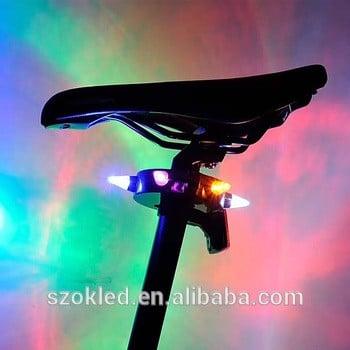 自行车灯无电池山路自行车自行车灯LED轮胎轮胎气门帽车轮辐条LED灯