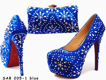Italian Shoes And Bags To Match Women Crystal With Matching For Party Wedding