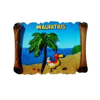 从事时尚旅游纪念品礼品树脂浮雕3D新毛里求斯冰箱磁铁家居装饰