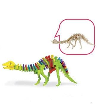 若态DIY木制立体恐龙拼图与颜料