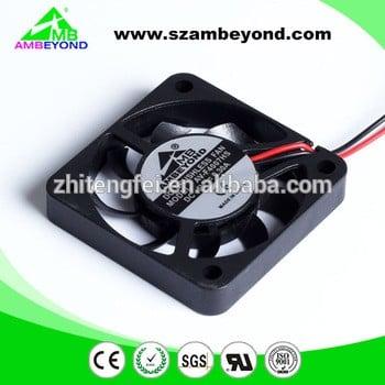 深圳的小厂价格PBT塑料直流轴流风机5V、12V 40x40x7mm水空气冷却风扇