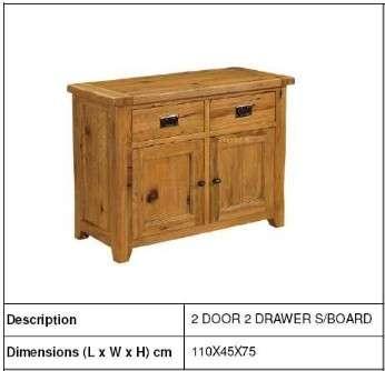 现代小天然木2门2抽屉柜,卧室家具