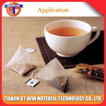 完全可生物降解的玉米茶网代替茶叶袋式过滤器尼龙网眼织物