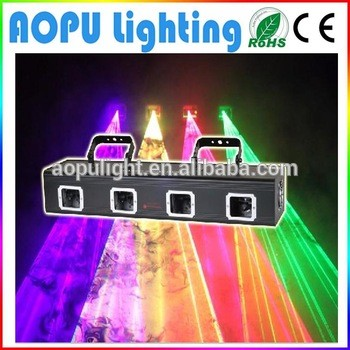 laser advertising equipment 4 four lens tunnel 980mW rgbp laser light outdoor laser lighting
