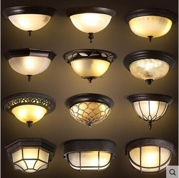 美式乡村复古LED吸顶灯卧室灯kx-ms300-2