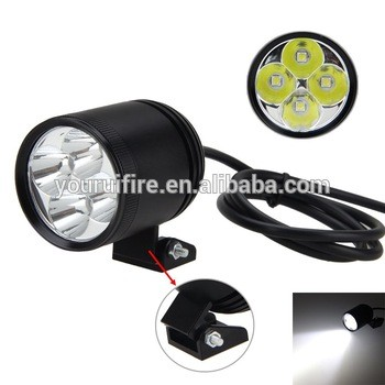 COURUI 4 * XM-L2 LED Spotlight Motorcycle DRL Driving Fog Lamp Spot Head Light HeadLamp