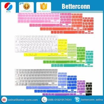 阿拉伯语/英文硅胶键盘外壳/保护器为MacBook Air Pro 13;15;17;