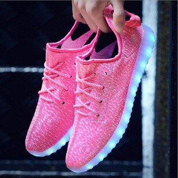 时尚发光LED鞋可充电轻鞋