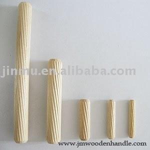 中国hotselling槽木销廉价螺纹木钉与各种规格