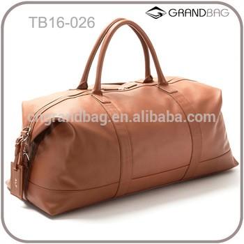 热销优质真皮旅行袋皮革旅行包里的男人