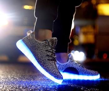 2016新设计男女皆宜的休闲鞋USB充电LED灯;LED发光鞋运动鞋
