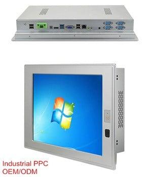 10英寸工业触摸屏电脑与赛扬1037U CPU风扇Win XP / Linux操作系统