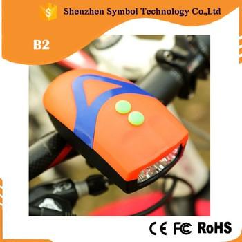 超亮自行车配件LED自行车灯与喇叭LED前自行车轻自行车灯