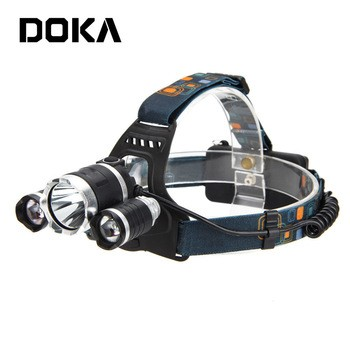 Manufacturers Headlight Camping Wholesale Xml T6 Light Dual Light Source Led Rechargeable Headlamp