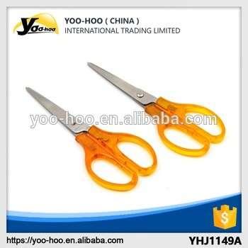 促销钢黄色手柄办公室和儿童使用剪刀
