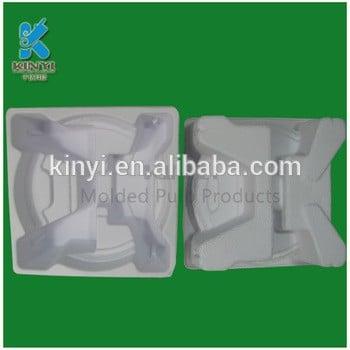 纸浆模塑湿压可生物降解蔗渣纸浆包装托盘