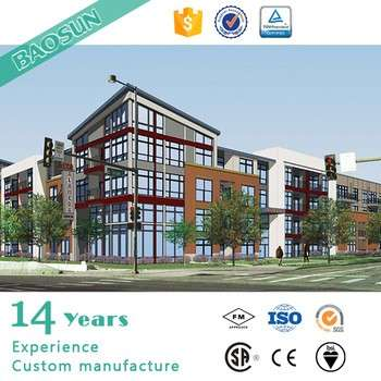 欧洲标准预制模块式高层办公楼