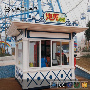 2016 Custom Made Outdoor Stainless Steel Booth Design Prefab