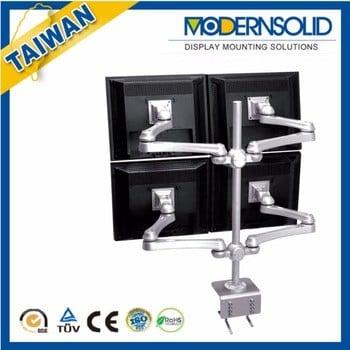 Desk Mount Easy Monitor Line Up 4 Quad LCD Monitor VESA Stand