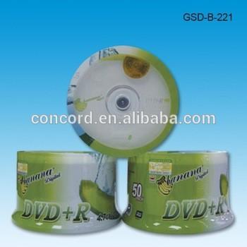 打印/ DVD + R 4.7gb香蕉设计8x 16x