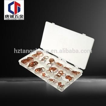 TC工具平垫片15尺寸类型铜包装扁环铜垫圈垫圈