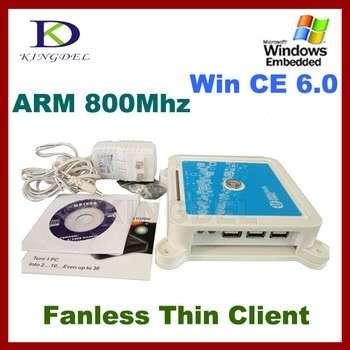 kingdel n380瘦客户机站终端ARM 800MHz的CPU,32位,麦克风,触摸屏,Windows CE 6