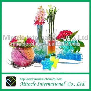 花瓶装饰用彩虹水晶粘土水珠