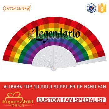 定制广告塑料织物折手扇便宜价格