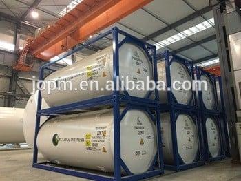 ISO T75罐式集装箱的高真空多层LOX LNI LAR LCO2 LNG C2H4