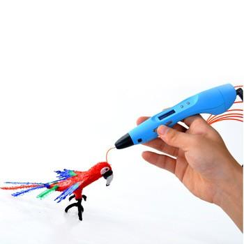 2016个新的儿童玩具三维打印机钢笔画在空气笔V3