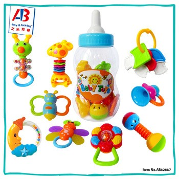 最佳产品塑料教育玩具软婴儿拨浪鼓