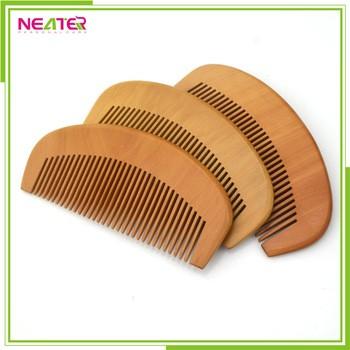批发促销便宜天然木胡子梳子定制木制梳子