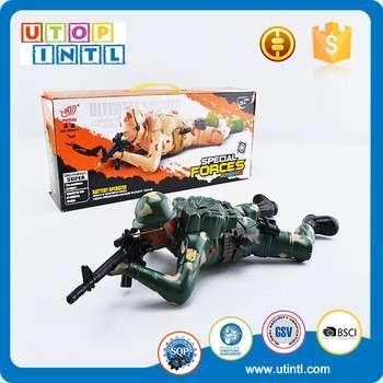 定制的黄色或绿色电池操作玩具士兵的声音和光